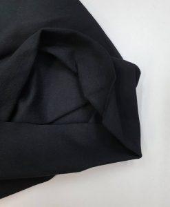 Kilpinis trikotažas Juodas