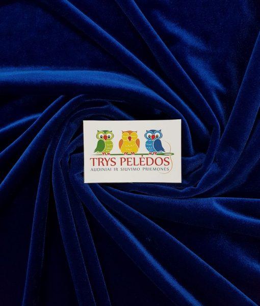 Sintetinis veliūras Ryškiai mėlynas