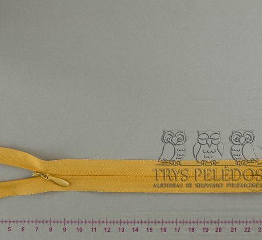 """Paslėptas užtrauktukas """"Geltonas"""", 20 cm"""