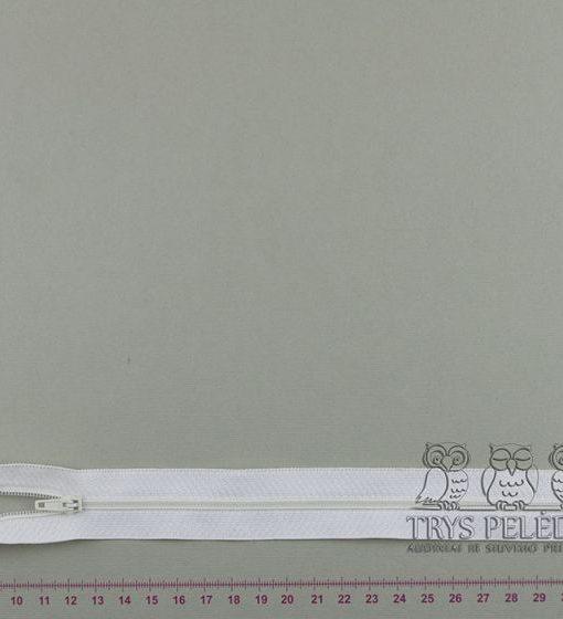 """Spiralinis fiksuojamas užtrauktukas """"Baltas"""", 22 cm"""