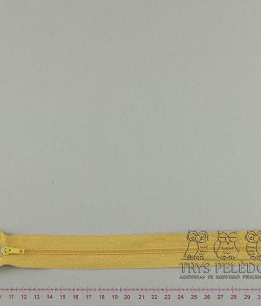 """Spiralinis fiksuojamas užtrauktukas """"Geltonas"""", 22 cm"""