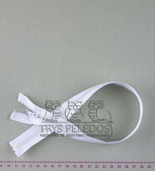 """Spiralinis užtrauktukas """"Baltas"""", 45 cm"""