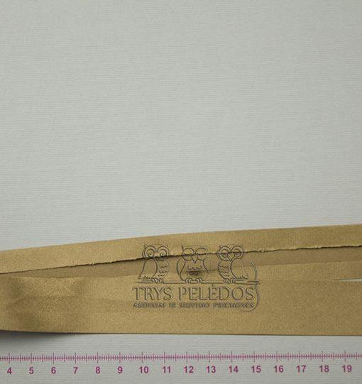 Atlasinė kantavimo juostelė Auksinė 25 mm