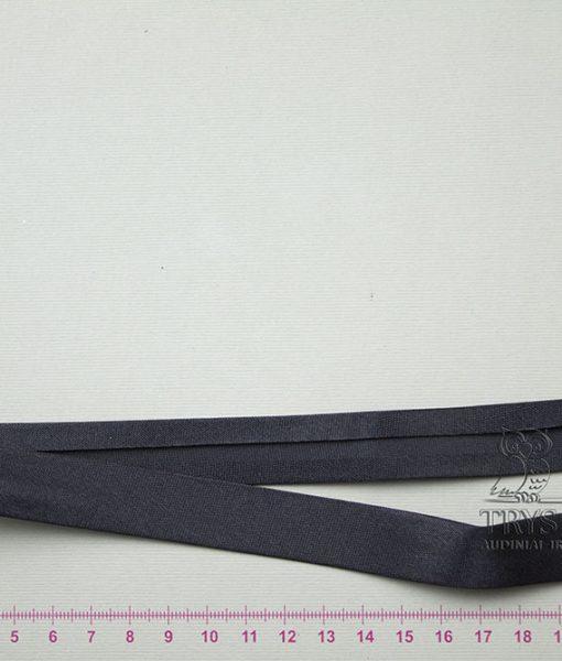 Atlasinė kantavimo juostelė Juoda 18 mm