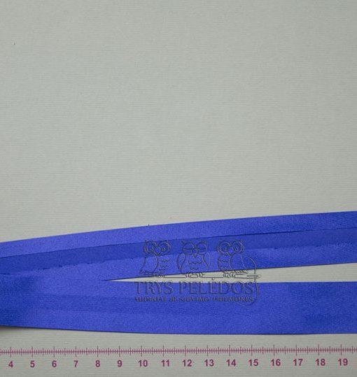 Atlasinė kantavimo juostelė Mėlyna 25 mm