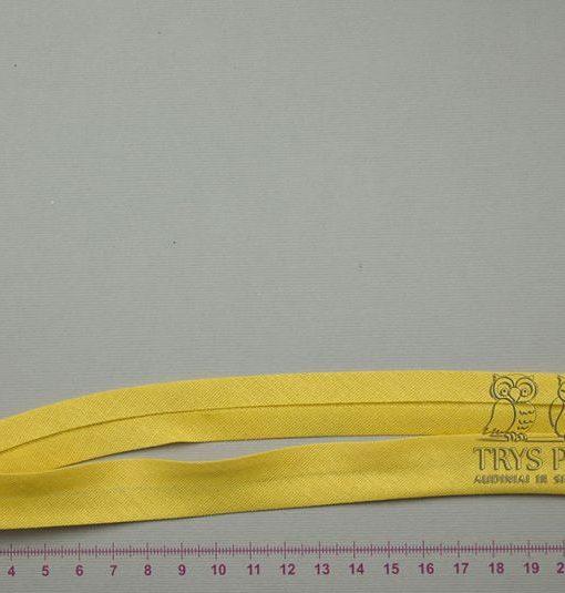 Medvilninė kantavimo juostelė Geltona 18 mm
