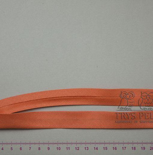 Medvilninė kantavimo juostelė Oranžinė 18 mm