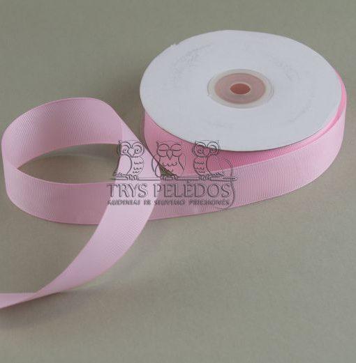 Grosgrain juostelė 25mm,šviesiai rožinė