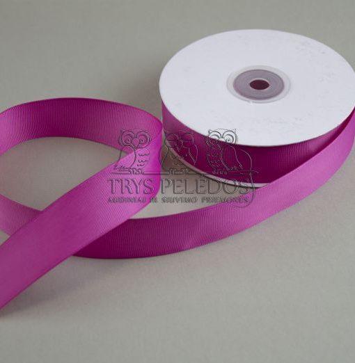 Grosgrain juostelė 25mm, ryškiai rožinė