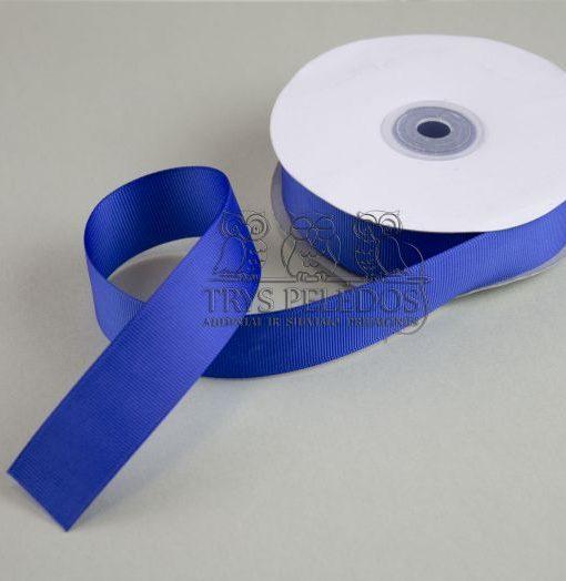 Grosgrain juostelė 25mm,ryškiai mėlyna