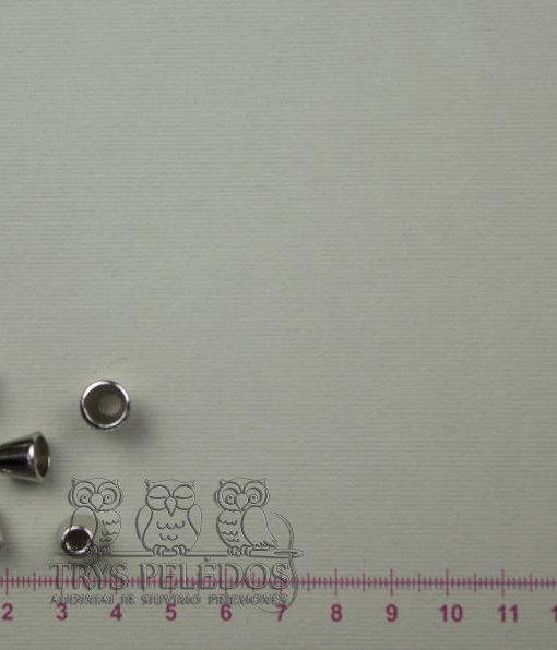 Antgaliai virvelėm,metaliniai,sidabrinės spalvos