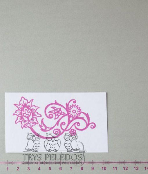 Termoaplikacija Rožinė Gėlytė
