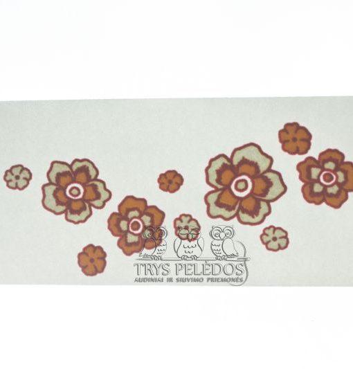 Termoaplikacija Margos gėlytės