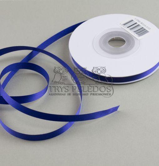 Atlasinė juostelė 10mm,ryškiai mėlyna