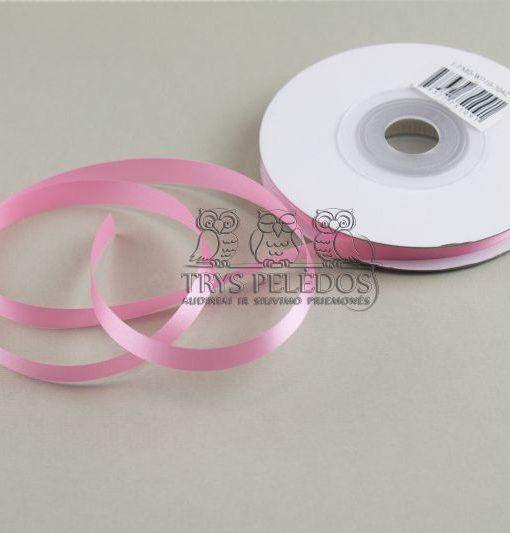 Atlasinė juostelė 10mm,šviesiai rožinė