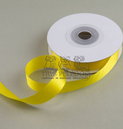 Atlasinė juostelė 20mm,geltona