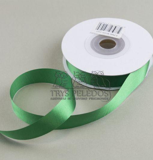 Atlasinė juostelė 25mm,žalia