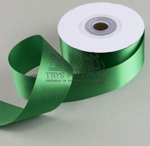 Atlasinė juostelė 40mm,žalia