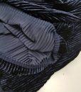 Sintetinis gofruotas veliūras Tamsiai mėlynas