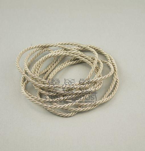 Dekoratyvinė virvelė 3mm,aukso spalvos