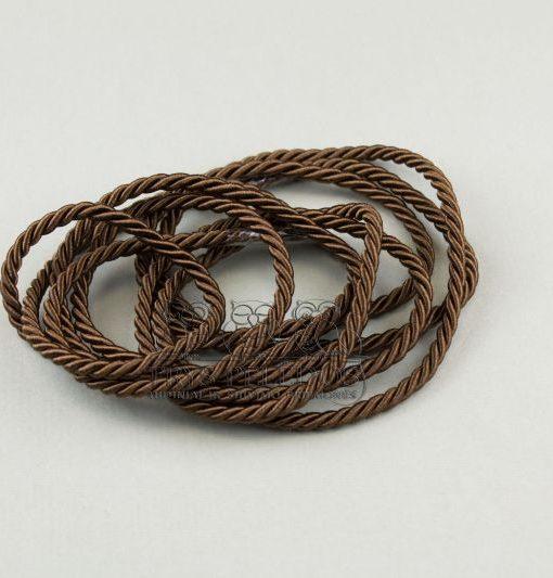 Dekoratyvinė virvelė 3mm,bronzinė