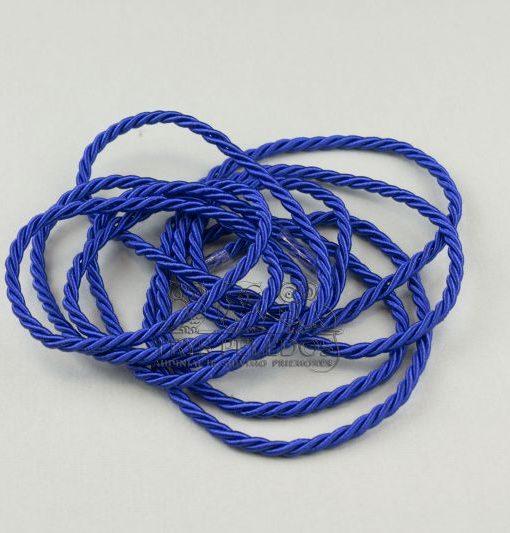 Dekoratyvinė virvelė 4mm,mėlyna