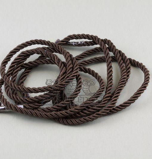 Dekoratyvinė virvelė 4mm,ruda