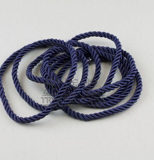 Dekoratyvinė virvelė 4mm,tamsiai mėlyna