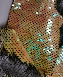 Audinys su dvispalviais žvyneliais Geltonas