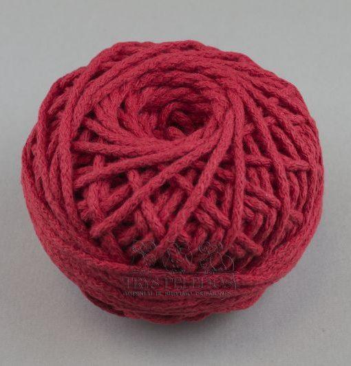 Medvilninė virvelė Raudona, 3 mm