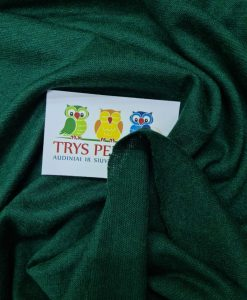 Megztas trikotažas su akrilanu Smaragdinis