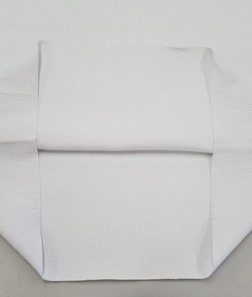 Rib trikotažas Baltas