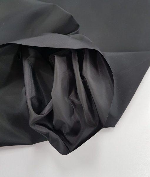 Pamušalinis storesnis audinys Juodas