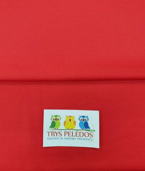Punto nailono trikotažas Raudonas