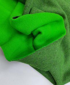 Pašiltintas, storas trikotažas Žalias melanžas