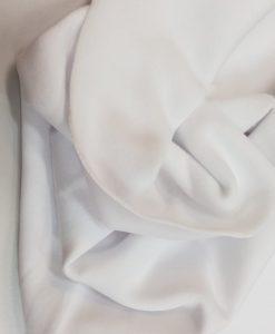 Pašiltintas, storas trikotažas Baltas