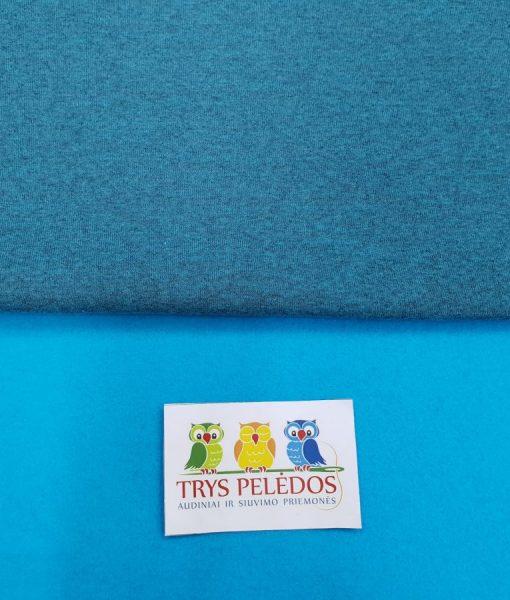 Pašiltintas, storas trikotažas Turkio melanžas