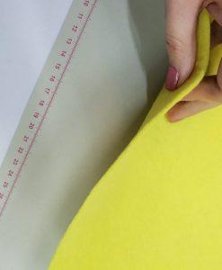 Dirbtinio veltinio (filco) lakštas, šviesus geltonas