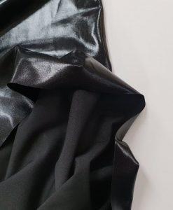 Dirbtinė EKO oda Blizgi juoda