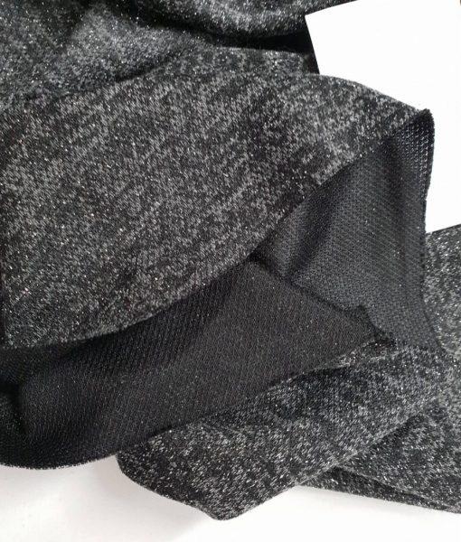 Angorinis trikotažas Juodas su lureksu