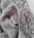 Pašiltintas, storas megztas trikotažas Rudas