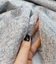 Angorinis trikotažas Pilkas su lureksu