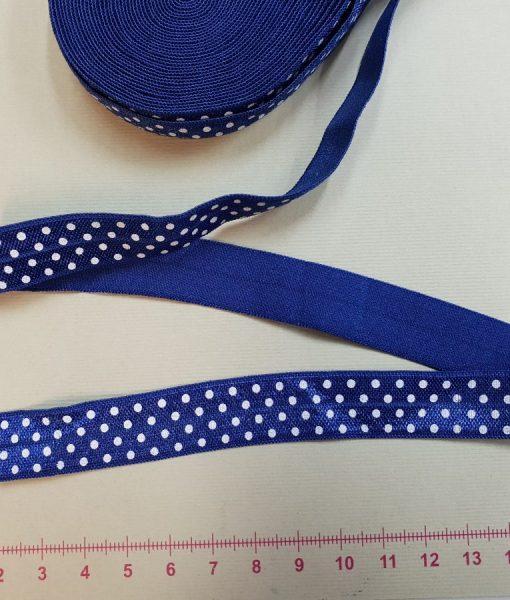 Elastinė taškuota kantavimo juostelė 15 mm, mėlyna
