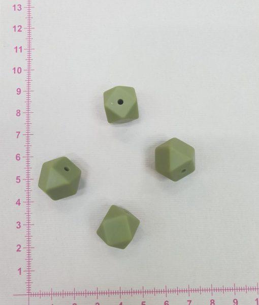 Silikoninis šešiakampis 14 mm, Chaki