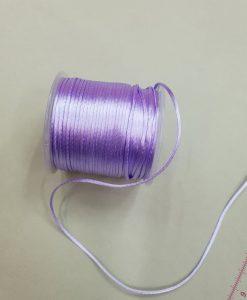 Satino virvelė Alyvinė, 1,5 mm