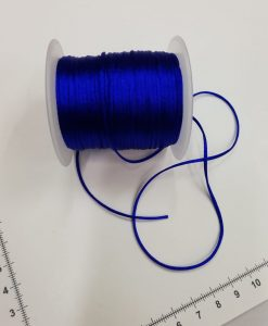 Satino virvelė Ryškiai mėlyna, 1,5 mm
