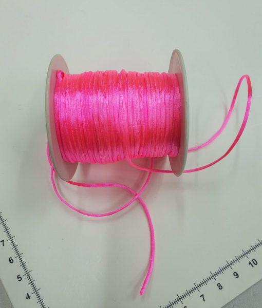 Satino virvelė Ryškiai rožinė, 1,5 mm