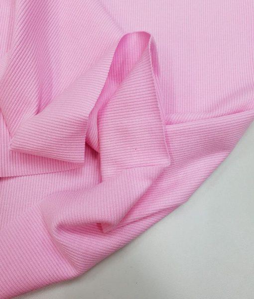 Rib trikotažas Labai šviesiai rožinis