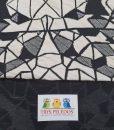 Megztas medvilninis trikotažas Balta mozaika