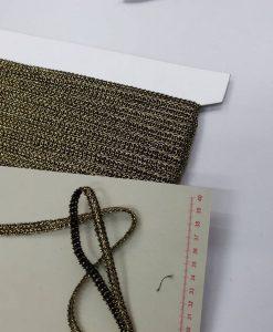 Dekoratyvinė juostelė Pynutė, auksinė tamsi